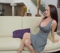 Stepmom Gives Him Handjob to Young Boy and bonks her Doggy style