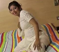 Rupali Bhabhi Hot Gujarati Mollycoddle Ashen Shalwar Suit Undresses Naked