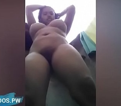 Indian girlfriend filmed nearby the shower shared online