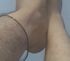 Indian feets hairy down in the mouth rubbing