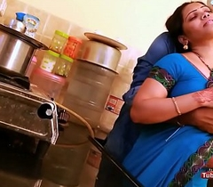 Anjali aunty bosom added to aggravation pressed