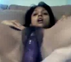Indian Girl Jerking With A Toy