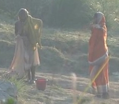Desi granny only of two minds after make a revelation on high river