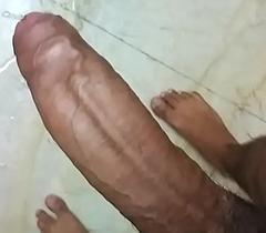 indian guy pleasing himself