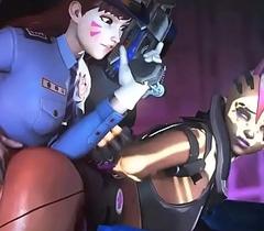 Officer D.VA X Sombra Overwatch verve older