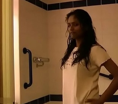 Indian College Girl Divya Drawing Shower ID The brush Virgin Pussy