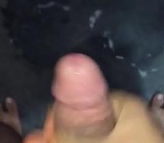 Indian gay guy concerning big cock cums concerning huge load of cum