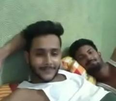 Indian Boys Having Fun on Web camera