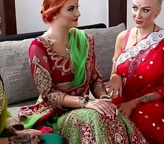 Pre-wedding indian bride rite