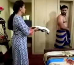 South Indian TV male lead forbidden exposed at hand underwear at hand a TV shtick