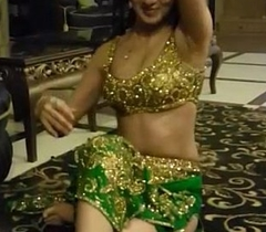 Beautiful indian girl doing blue mujra for her customer